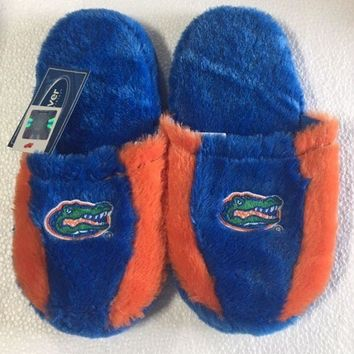 University of Florida Gators Fuzzy SLIDE SLIPPERS New -  USA