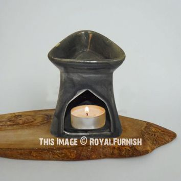 Ceramic Oil Burner Diffuser For Home Decoration  Aromatherapy on RoyalFurnish.com