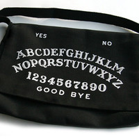 Black Ouija Board Purse - Square Bottom Bag