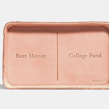 No. 309 Leather Valet Tray, Beer Money - College Fund + Charity