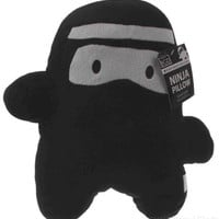 Studio BGD Ninja Pillow Black White 13in Mask Bandana Kids Bedroom Throw Stuffed