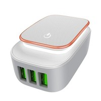 3-Port USB Wall Charger, 3.4A USB Charger Travel Fast Charging Station Power Adapter-Foldable
