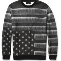Givenchy - Flag-Print Fleece-Back Jersey Sweatshirt | MR PORTER