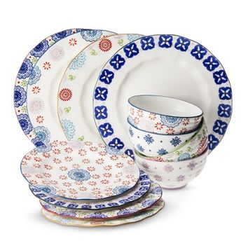 Boho Boutique™ Floral Ceramic Dinnerware Collection