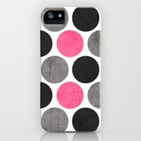 cosmopolitan polka dots iPhone & iPod Case by Her Art