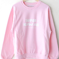 Super Kawaii Sweatshirt - Pink