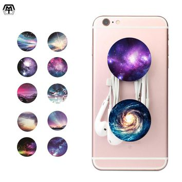 Colorful Aurora Polaris Pattern POP Holder Hand Finger Ring Socket Grip Mount Expanding Stand and Grip POP for Smartphones