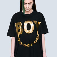 Gold Chain Boy Shirt from Long Clothing x Boy London