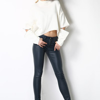 Zipper On the Sleeves Knit Sweater TP0357
