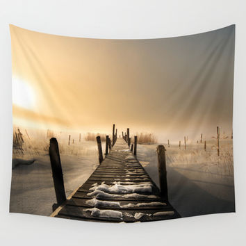 I rest here... Wall Tapestry by HappyMelvin