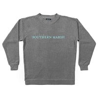 Sunday Morning Sweater in Burnt Taupe by Southern Marsh