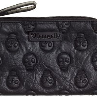 LOUNGEFLY EMBOSSED SKULL MAKEUP CASE