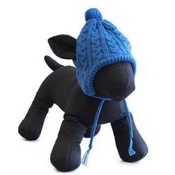Worthy Dog Toboggan Dog Hat - Blue