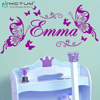 DIY Butterfly Personalized Vinyl Wall Sticker Nursery Bedroom Decoration Art Decals PVC Wall Stickers for Kids Rooms Home Decor