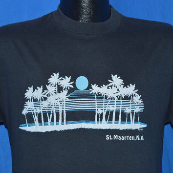80s St. Maarten Netherland Antilles Sunset t-shirt Medium
