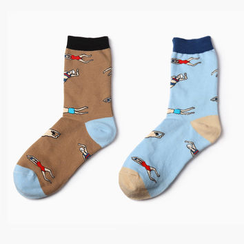 Backstroke Swimming Sock Set [2 Socks]
