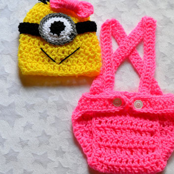 Crochet Patterns For Baby Overalls : Best Minion Baby Products on Wanelo