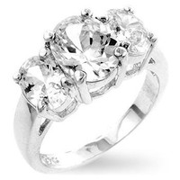 Chloe Ann Triplet Engagement Ring, size : 08