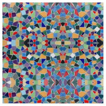 Colorful mosaic pattern fabric