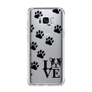 BOSTON TERRIER DOG Samsung Galaxy S4 S5 S6 S7 Edge Clear Case