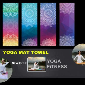 Yoga Mat Towel Workout Portable Training Cover Blanket Soft Towel