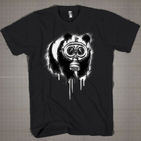 Choked Panda On American Apparel  Mens and Women T-Shirt Available Color Black And White