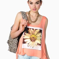 Shimmer Sunflower Muscle Tee