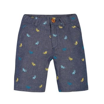PAUL SMITH JUNIOR Bermuda Shorts with Bicycle Embroidery