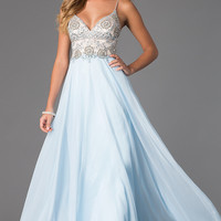 Floor Length Spaghetti Strap Dress by Dave and Johnny