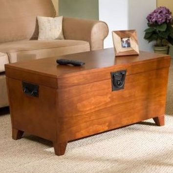 Wooden Lift Top Coffee Table Storage Trunk
