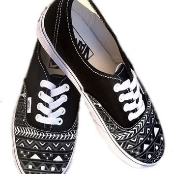 Black White Aztec Tribal Vans !!!