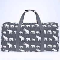 Grey Boho Elephant Duffle Bag