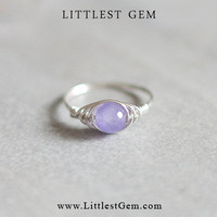 Alexandrite Ring - unique rings - wire wrapped jewelry handmade - custom