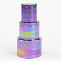 Diameter 40MM 50MM 55MM 63MM 4 Parts Zinc Alloy Fantastic Herb Tobacco weed Grinder for smoke pipe hookah narguile shisha
