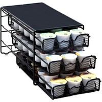 DecoBros 3 Tier Drawer Storage Holder 54 Keurig  Coffee Pod