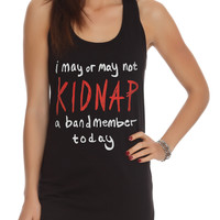 Kidnap A Band Member Girls Tank Top