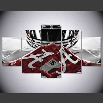 Fast US Ship - Alabama Crimson Tide college football team print canvas art