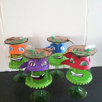 TMNT...(setof 4) mini cupcake stands