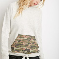 Camo Pocket Heathered Hoodie