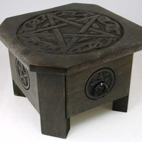 Celtic Pentagram altar table [RAT635] - $42.95 : Magickal Products, Crystals, Tarot Decks, Incense, and More!
