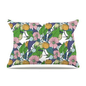 "Catherine Holcombe ""Spring Foliage"" Floral Pastels Pillow Case"