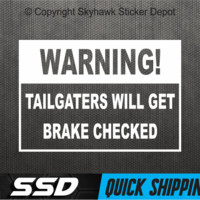 Funny Warning To Tailgater Bumper Sticker Vinyl Decal For Car Truck SUV Window