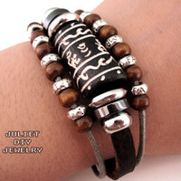 Wild Life Leather Bracelet on Luulla