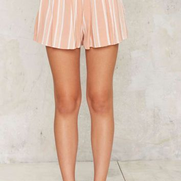 Motel Barbie Striped Shorts