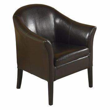 1404 Brown Leather Club Chair-Armen Living