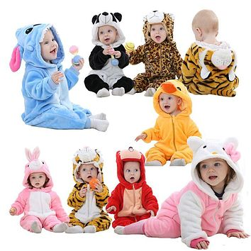 Baby clothes cartoon rompers unisex pajamas baby boys girls clothing panda cute newborn Jumpsuit roupa de bebe navidad macacao