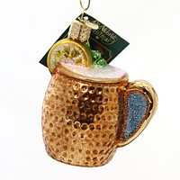Old World Christmas MOSCOW MULE MUG Glass Vodka Spicy Beer Lime 32273
