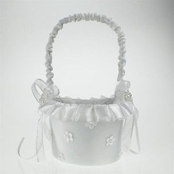 Satin Flower Girl Baskets Wedding Ceremony, CLOSEOUT