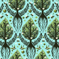 Laminated Fabric -Tree of Life by Tula Pink - Laminated Cotton
