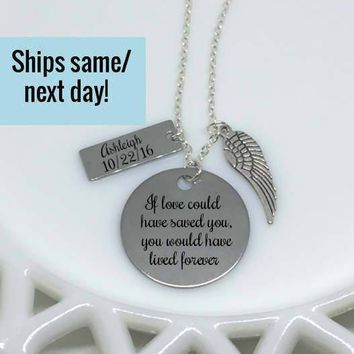 Stainless Memorial Jewelry, Miscarriage Necklace, Mommy of an Angel, Memorial Jewelry, Memorial Necklace, Miscarriage Jewelry Pendant